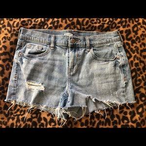 Old navy boyfriend jean shorts size 4